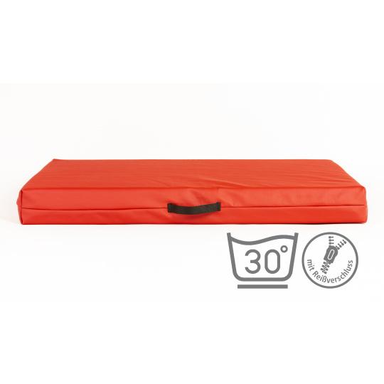 Matrace 5cm vysoká červená ekokůže 3XL 100x67cm